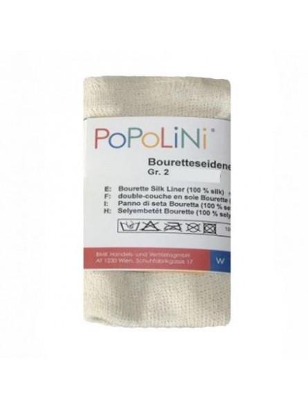 POPOLINI - Voile en bourrette de soie Disana