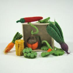 Mini légumes en laine...