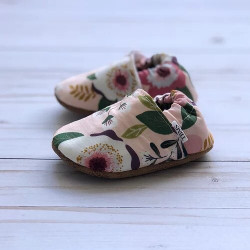 Chaussons souples PINK FLORAL