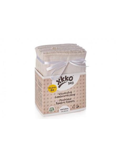 XKKO - Langes pré-pliés en bambou ( lot de 6)